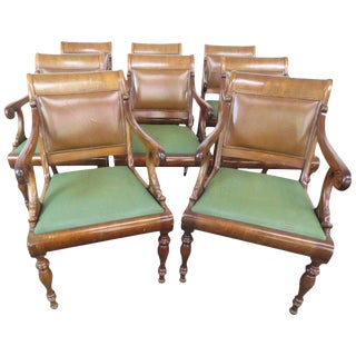 Eight Smith & Watson Regency Style Armchairs For Sale