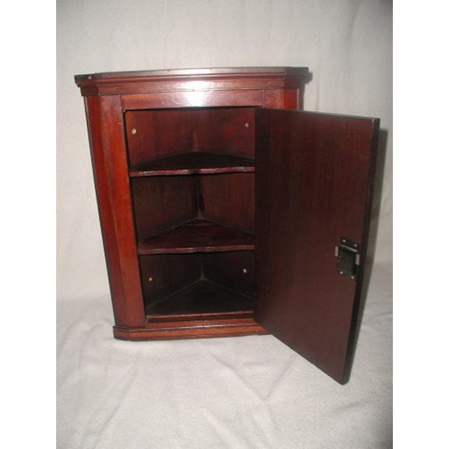 English Traditional Hand Made C.1875 English Corner Mahogany Cabinet For Sale - Image 3 of 7