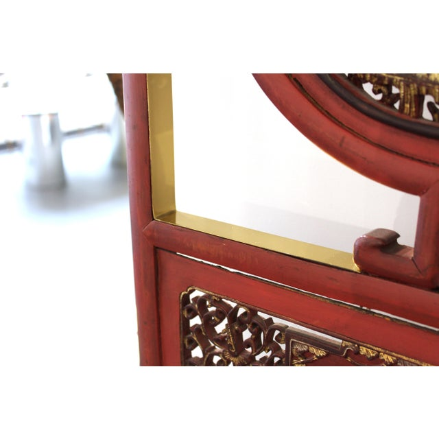 Metal Asian Modern Lacquer Screen Element Mounted on Stand Attributed to Karl Springer For Sale - Image 7 of 13