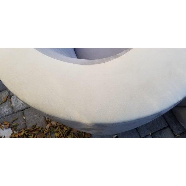 Textile Vladimir Kagan Nautilus Swivel by Wieman / Pair For Sale - Image 7 of 9