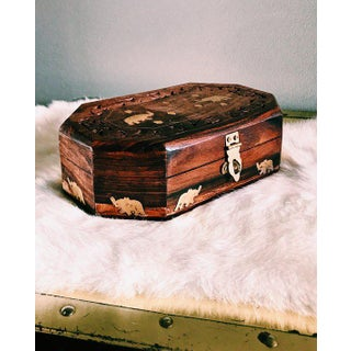 1960s Anglo-Indian Hand-Carved Wooden Jewelry Box Preview