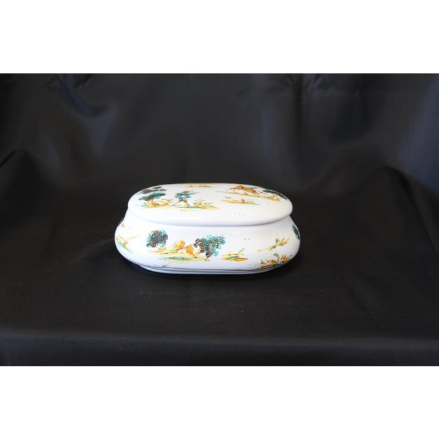 This Vintage Ernan Italian Hand-Painted Ceramic Lidded Trinket Box is a limited series piece from Studio Ernan Designs....