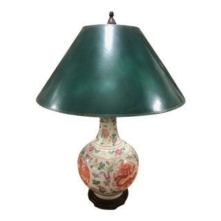 1950s Asian Dragon Flower Vase Lamp For Sale