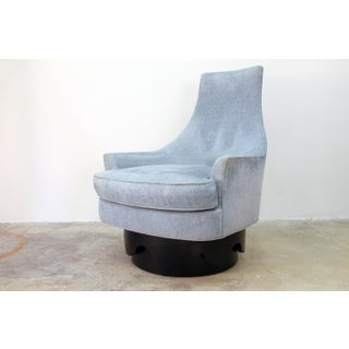 1960s Vintage Craft Associates Adrian Pearsall High Back Swivel Chair Preview