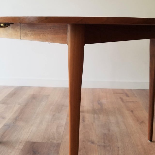 Brown 1963 Drexel Declaration Mid-Century Modern Walnut Dining Table For Sale - Image 8 of 13
