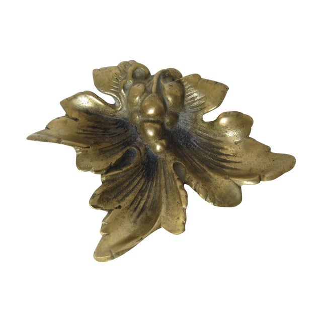 Brass Grape Leave Catchall - Image 1 of 5