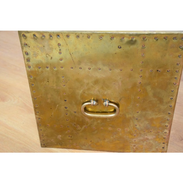 Sarreid Brass Cube End Table - Image 6 of 8