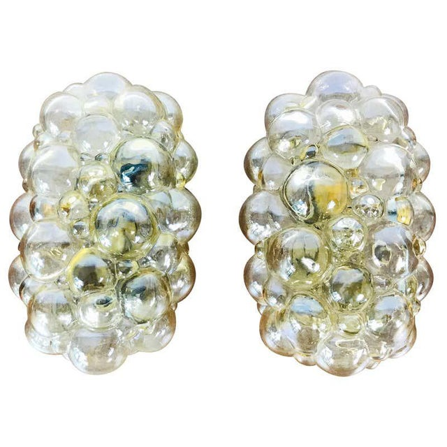 Pair of Midcentury Bubble Glass Wall Lamps by Helena Tynell for Limburg, 1960s For Sale - Image 9 of 9
