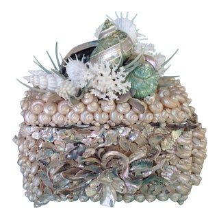 """""""Moonlight"""" Original Shelled Treasure Chest by Coquillage Artist For Sale"""