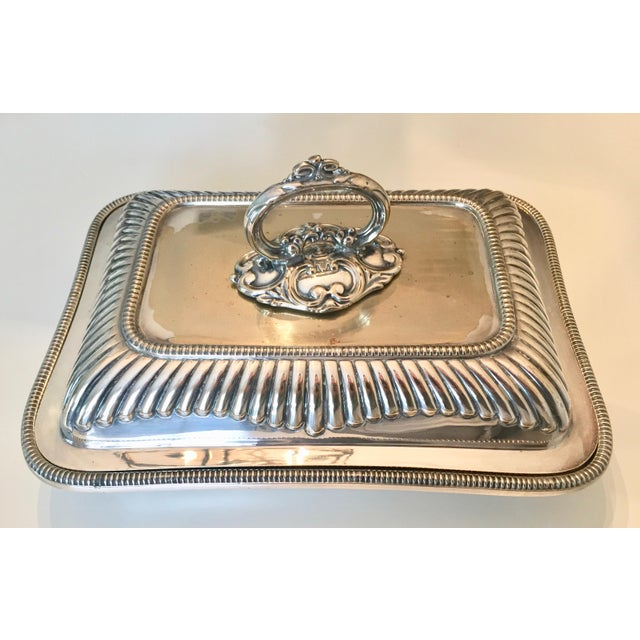 This fabulous antique Sheffield silver triple plated covered vegetable dish was made by Mappin & Webb, London. Heavy and...