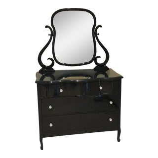 Modern Victorian Style Antique Dresser With Mirror For Sale