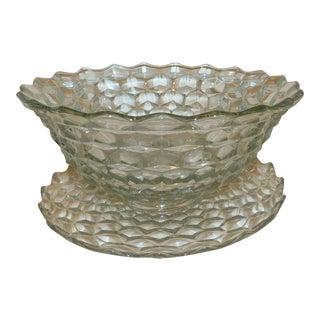 Vintage Fostoria Punch Bowl For Sale