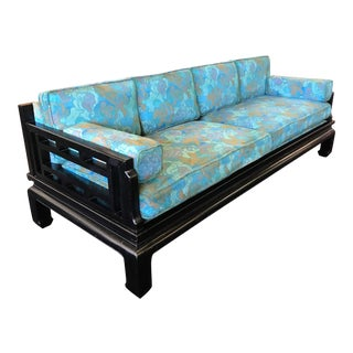 Mid Century Modern James Mont Style Asian Sofa For Sale