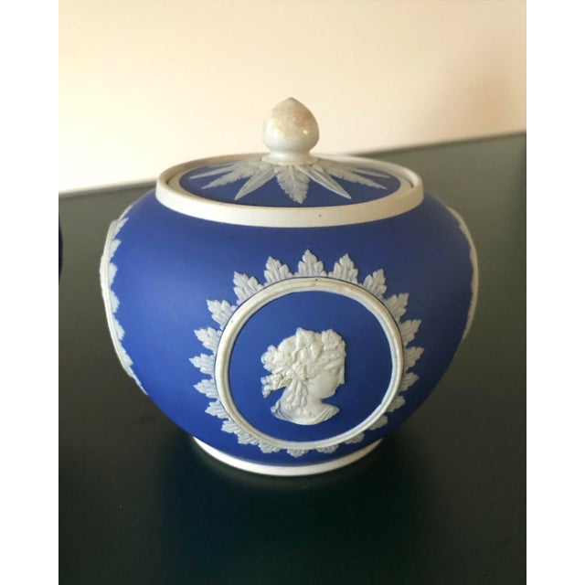 Wedgwood Neoclassical Wedgwood Jasperware Cream & Sugar Containers - 2 Pieces For Sale - Image 4 of 13