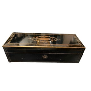Napoleon III Ebonized Box With Mother of Pearl Inlay For Sale