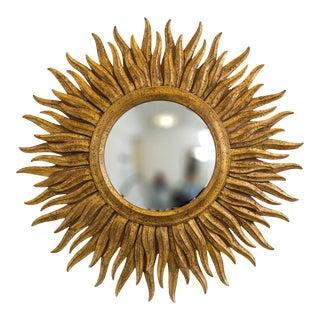 Italian Gilt Wood Starburst Mirror For Sale
