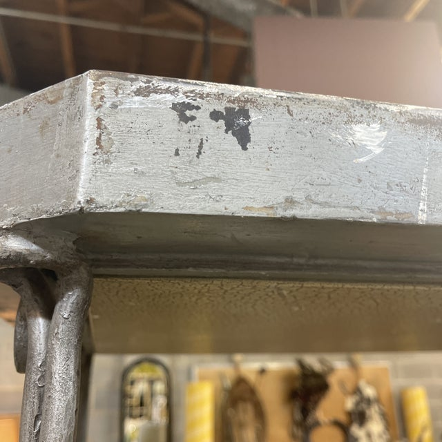 Metal Large Iron and Glass Etageres For Sale - Image 7 of 13