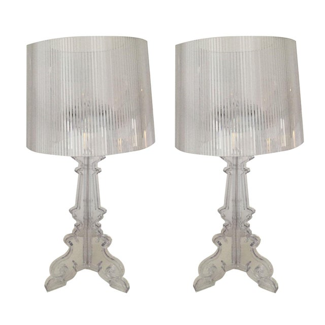 Kartell Bourgie Crystal Lamps - A Pair - Image 1 of 7