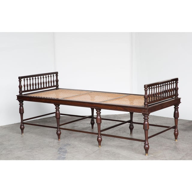 Antique Anglo-Indian Caned Daybed - Image 10 of 10