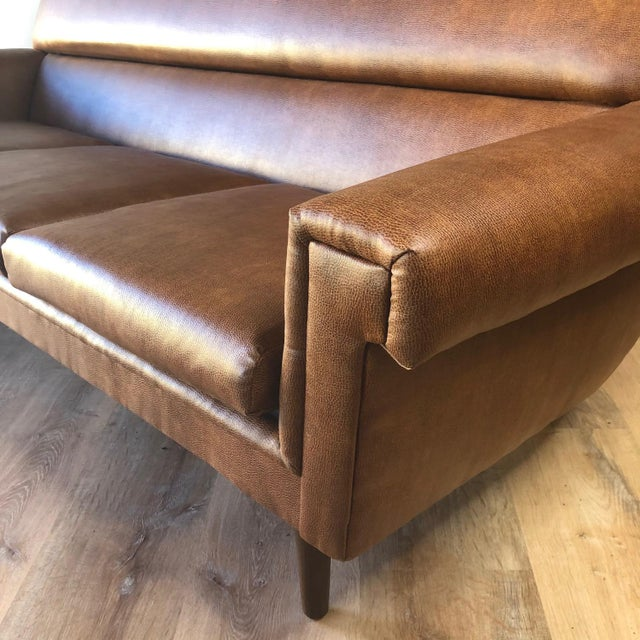 Mid-Century Modern Newly-Uphlolstered Danish Mid-Century Sofa For Sale - Image 3 of 7