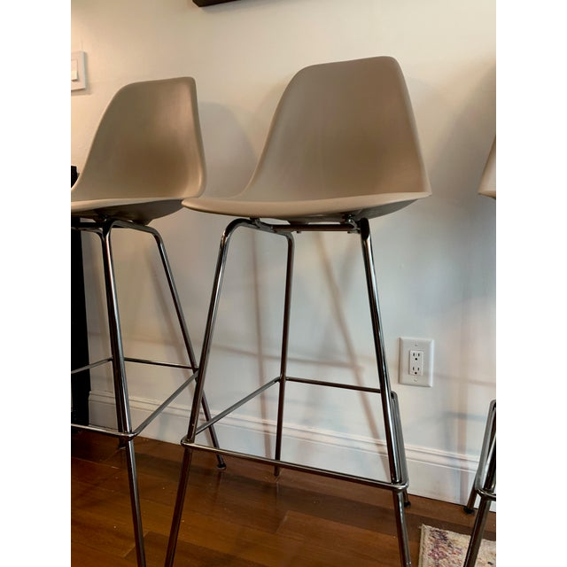 Design Within Reach Eames 174 Molded Plastic Bar Stools Set