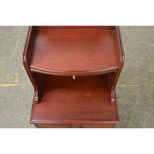Pennsylvania House Mt Vernon Pair of Solid Cherry Vintage Nightstands For Sale - Image 11 of 13