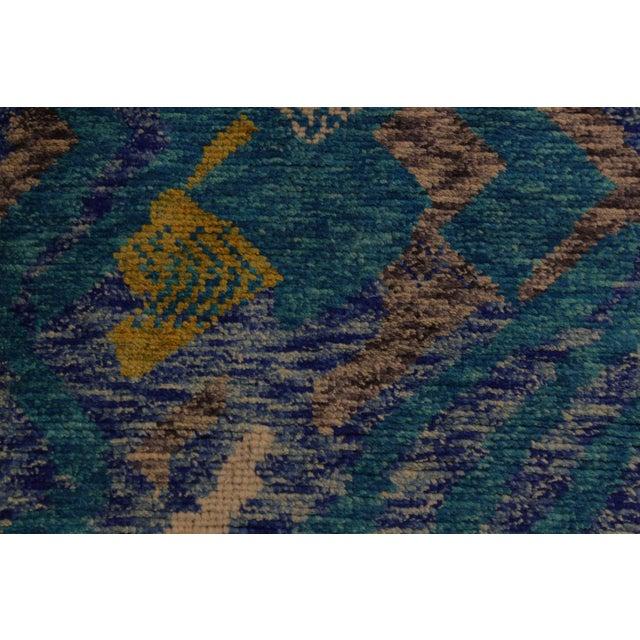 2000 - 2009 Balouchi Albertha Blue Wool Rug - 4′10″ × 6′6″ For Sale - Image 5 of 8