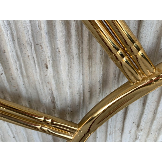 Mid-Century Modern Italian Faux Bamboo Gilt Metal Queen Headboard For Sale In Miami - Image 6 of 8
