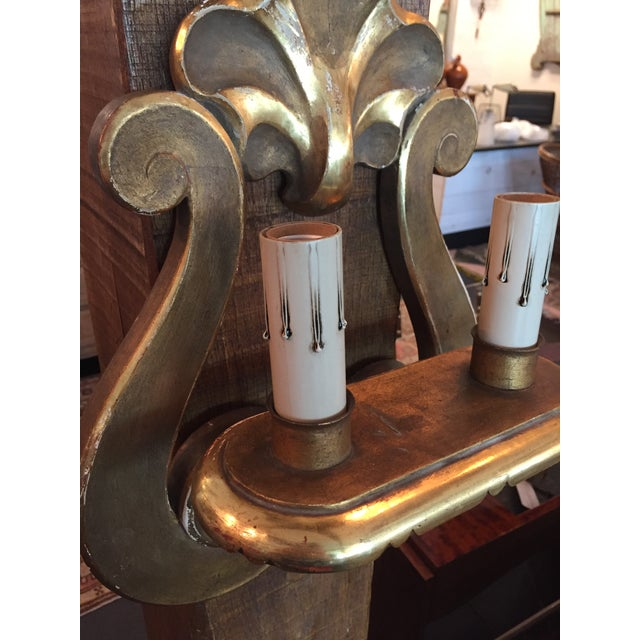Italian Gilt Sconce, C.1950 - a Pair For Sale - Image 10 of 11