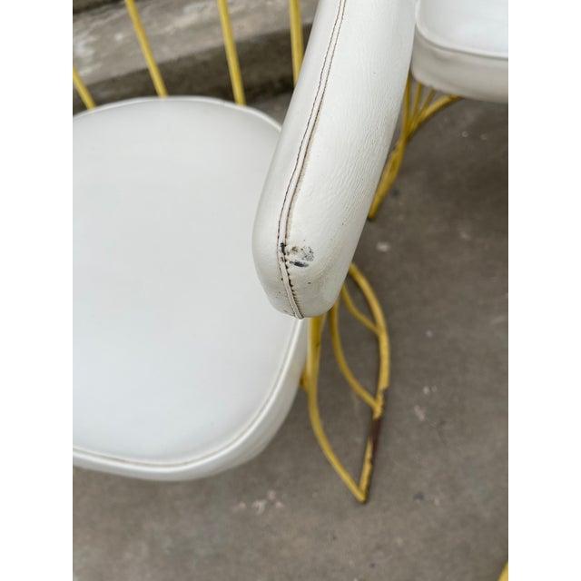 1970s Mid Century Iron & Vinyl Patio Chairs - Set/4 For Sale - Image 5 of 8