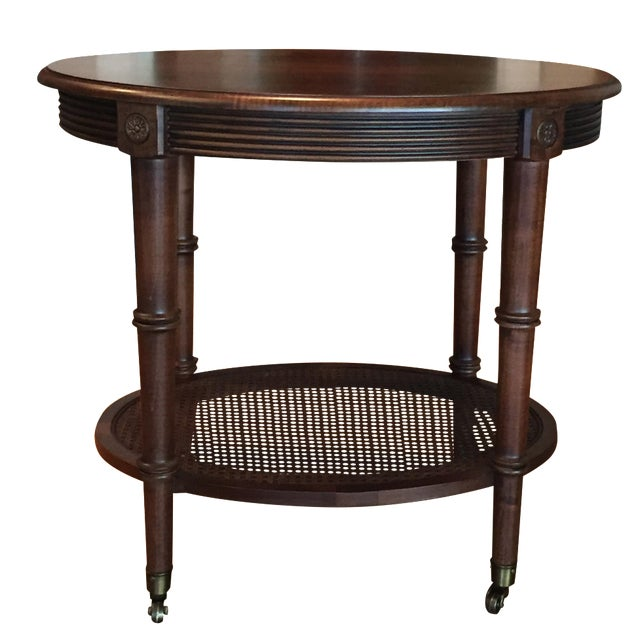 Oval Side Table by Ethan Allen - Image 1 of 4