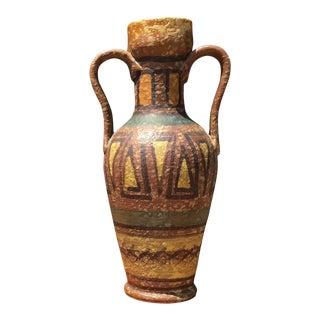 Vintage Mid-Century Raymor Italian Art Pottery Vase Jug For Sale
