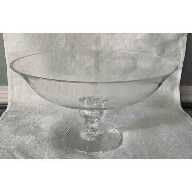 Tiffany Crystal Glass Footed Pedestal Bowl For Sale In Washington DC - Image 6 of 6