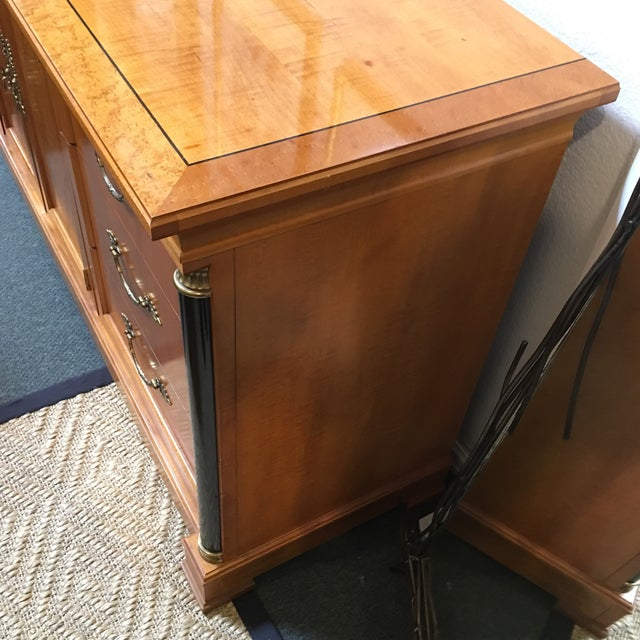 Black Thomasville Neoclassical Wood Credenza For Sale - Image 8 of 11