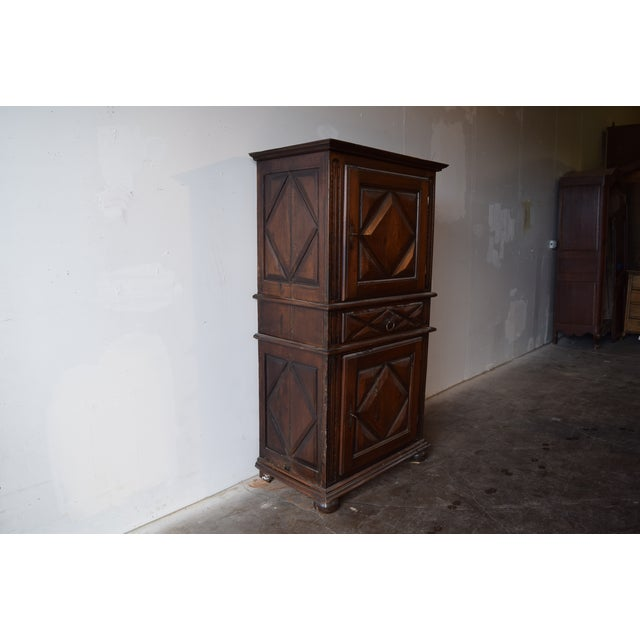 Country 19th Century French Country Walnut Armoire For Sale - Image 3 of 12