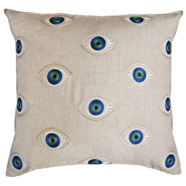 Evil Eye Accent Pillow For Sale - Image 4 of 5