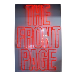 "Neon Sign ""The Front Page"" For Sale"