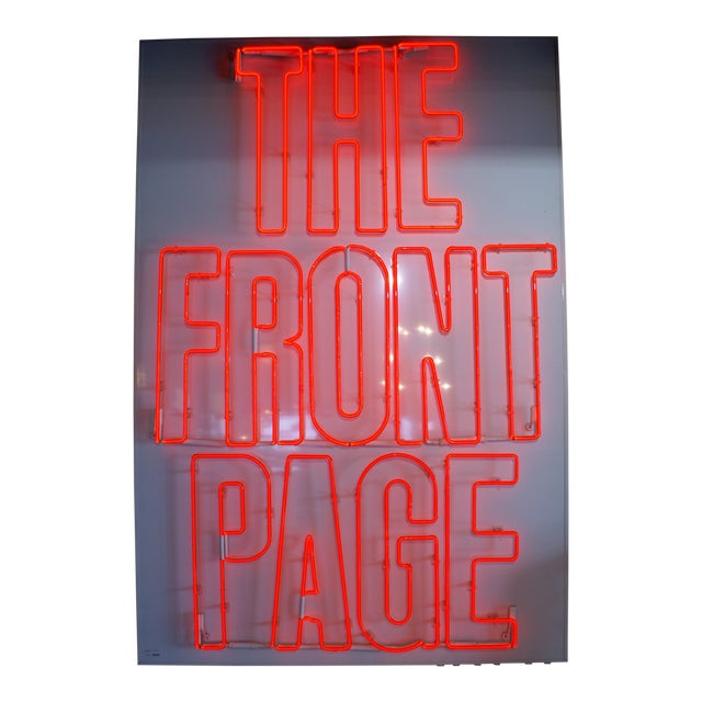 """Neon Sign """"The Front Page"""" - Image 1 of 6"""