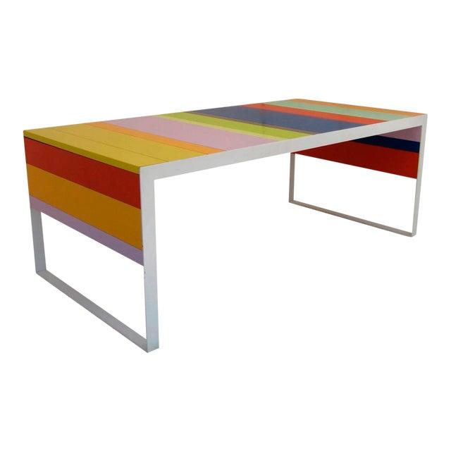 Memphis Modern Style Multi Color Table Desk For Sale