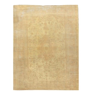 Antique Shabby Chic Oushak Rug, 8'11 X 11'10 For Sale