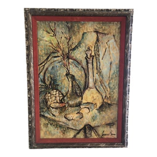 Vintage Mid-Century Still Life Painting For Sale