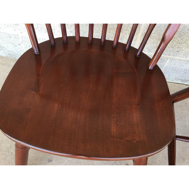 Wood Modern Ethan Allen New Country Hoop Back Gilbert Side Chairs- A Pair For Sale - Image 7 of 12