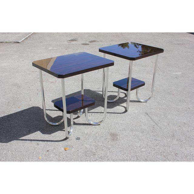 1940s 1940s French Modern Exotic Macassar Ebony End Tables - a Pair For Sale - Image 5 of 11