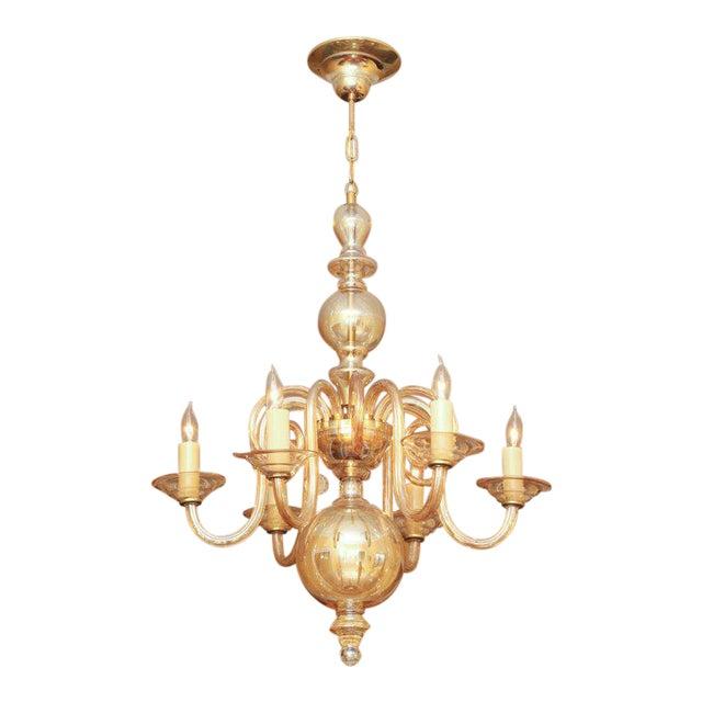 Czechoslovakian Glass Chandelier For Sale