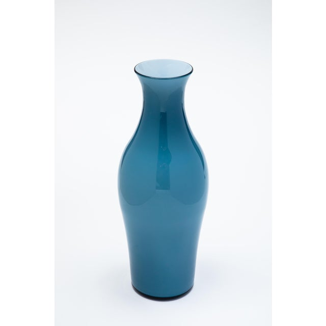 Contemporary Fortuny by Moretti Madrazo Tall Vase in Blue For Sale - Image 3 of 3
