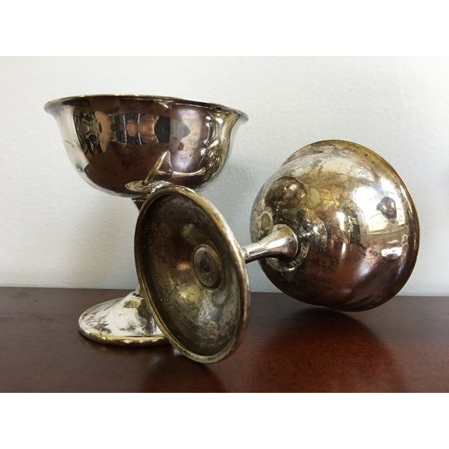 Early 20th Century 20th Century Art Deco Sheridan Silverplate Goblets - Set of 4 For Sale - Image 5 of 8