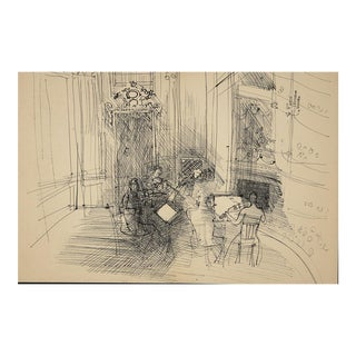 Dufy Lithograph: Chamber Orchestra , 1944 From Monograph of Designs & Sketches For Sale