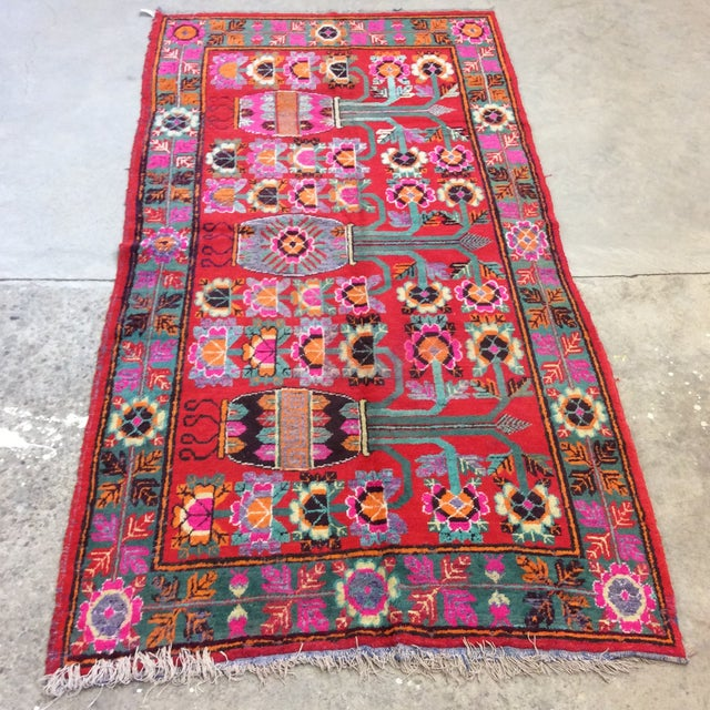 Vintage Chinese Khotan Rug - 4'9x10' For Sale - Image 13 of 13