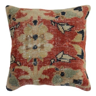 Traditional Sultanabad Rug Pillow For Sale