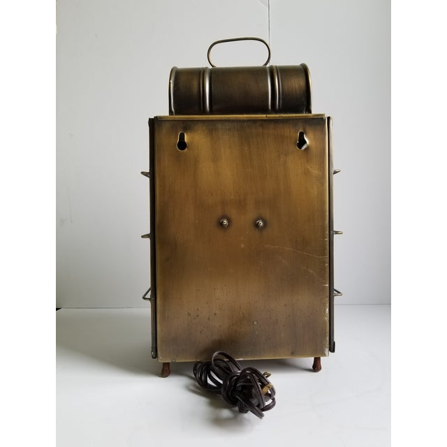 American Colonial Style Brass Lantern Lamp For Sale - Image 4 of 12